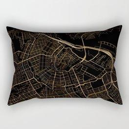 Black and gold Amsterdam map Rectangular Pillow