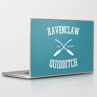 quidditch Laptop & iPad Skins featuring Hogwarts Quidditch Team: Ravenclaw by IA Apparel