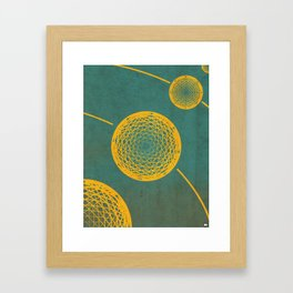Wireframe Framed Art Print