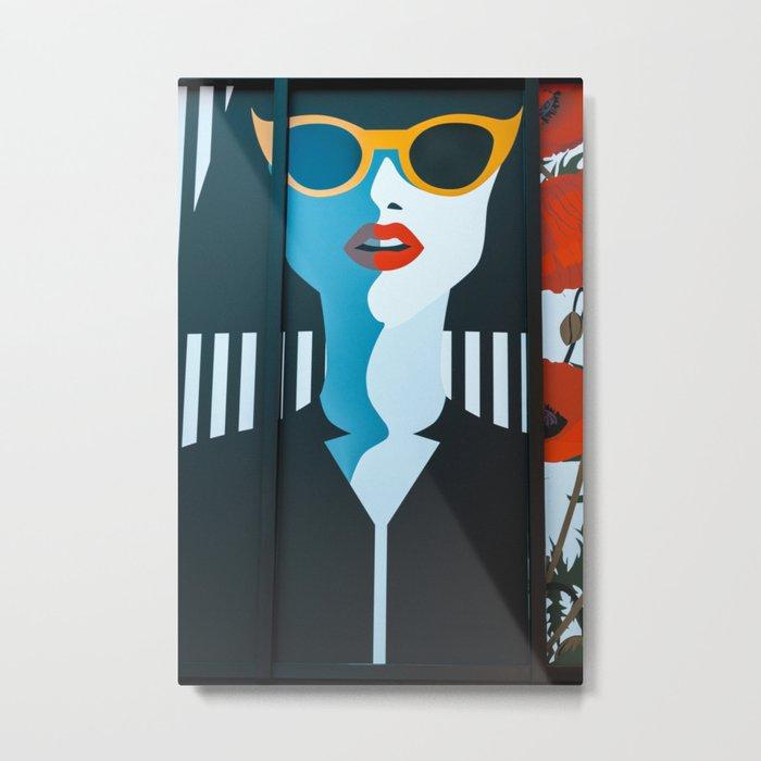 Girl with sunglasses Metal Print