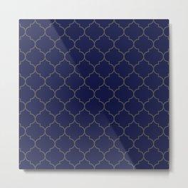 Imperial Trellis Winter 2018 Color: Ultra Blue Moon Metal Print