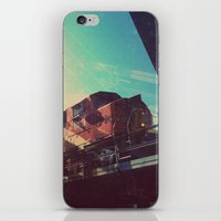 train iPhone & iPod Skins featuring Train by Sam Halleen