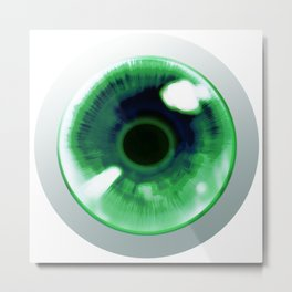 Green Eye - Graphic Desig Metal Print