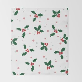 Holly tree pattern Throw Blanket