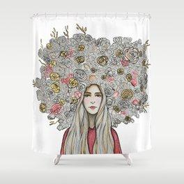 """"""" Floret Gold """" Shower Curtain"""
