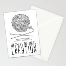 Weapons Of Mass Creation - Knitting Stationery Cards