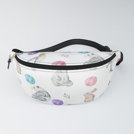 Animals with Balloons Fanny Pack