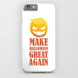 Make Halloween Great Again Trump Pumpkin iPhone Case