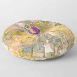 Light and Muse   Dreamy Floral Watercolor no. 1 Floor Pillow