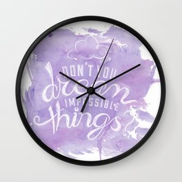 LYRICS - Don't you dream in color Wall Clock