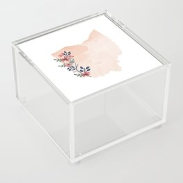 Ohio Watercolor Floral State Acrylic Box