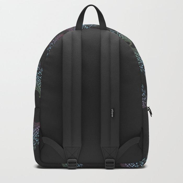 Tribal Eagle Rainbow Pattern on black Backpack