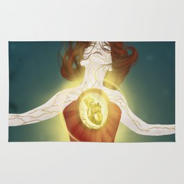 Lighted Heart Rug