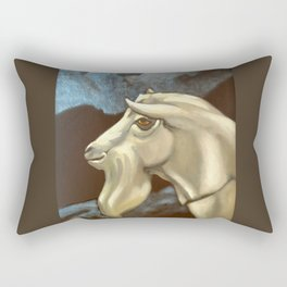 Night of The Billy Goat Rectangular Pillow