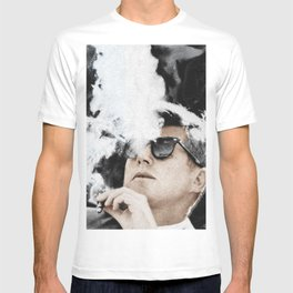 JFK Cigar and Sunglasses Cool President Photo Photo paper poster Color T-shirt