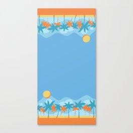 beach fun times Canvas Print