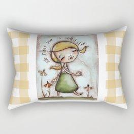 First Step - by Diane Duda Rectangular Pillow