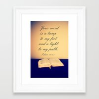 bible Framed Art Prints featuring Bible  by Jo Bekah Photography