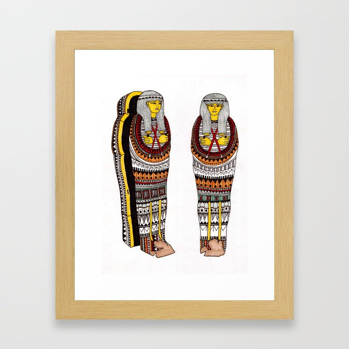 Decorative Mummy Cases Framed Art Print