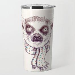 Lemur and scarf Travel Mug
