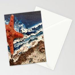 Starfish on the beach Stationery Cards