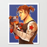 bucky Canvas Prints featuring Bucky by zombietonbo