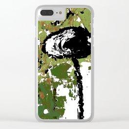 Rock Your Grunge II Greenery Clear iPhone Case