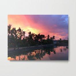 Sunset in Fiji Metal Print