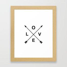 Love and Arrows Framed Art Print