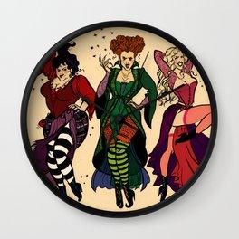 Hocus Pocus Pin-ups ~Color Wall Clock