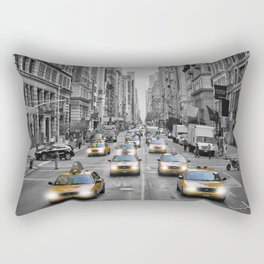 5th Avenue NYC Traffic Rectangular Pillow
