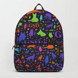 German Shepherd Dog Silhouettes - Color #1 Backpack