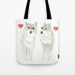 WOLVES IN LOVE / WOLF VALENTINE / WOLF PACK / WOLF LOVE Tote Bag
