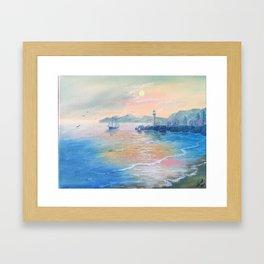 Evening ocean,sunset Framed Art Print