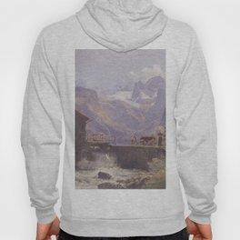 Hoher Dachstein From Lower Gosau 1838 by Rudolf von Alt | Reproduction Hoody