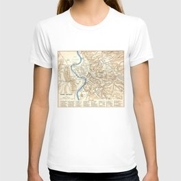 Vintage Map of Rome Italy (1870) T-shirt