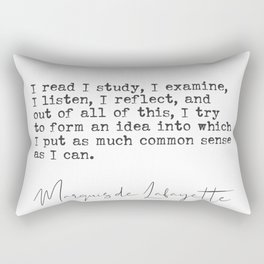 Marquis de Lafayette quote Rectangular Pillow