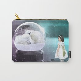 Snow Globe Bear Carry-All Pouch