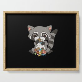 Raccoon Sweet Tooth Candy Dance Serving Tray