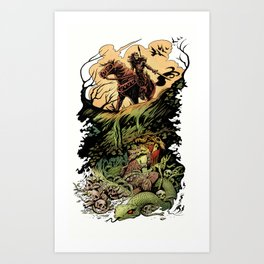 The Cave Witch Art Print