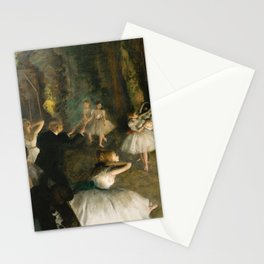The Rehearsal of the Ballet Onstage - Degas Stationery Cards