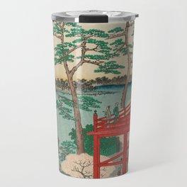 Spring Blossoms and Pond Ukiyo-e Japanese Art Travel Mug