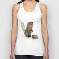 beaver Tank Tops featuring Beaver. by Paola Zakimi