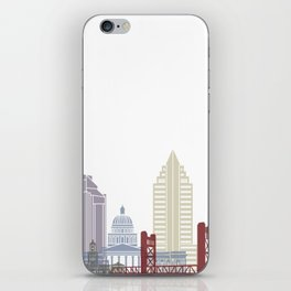 Sacramento skyline poster iPhone Skin