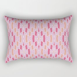 Tribal Diamond Pattern in Pink and Peach Rectangular Pillow