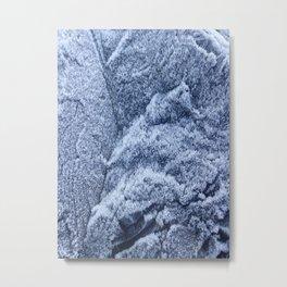 Winter nights frosty mountain Metal Print