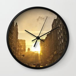 Dawn on the Gran Via Wall Clock