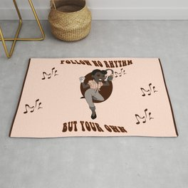 Old Style Cartoon pin up Rhythm Rug