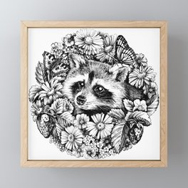 "Summer raccoon. From the series ""Seasons"" Framed Mini Art Print"