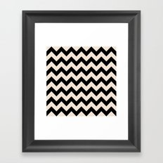 Twin Zig Framed Art Print
